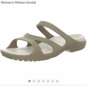 Crocs Tan Meleen Sandals Sz 9